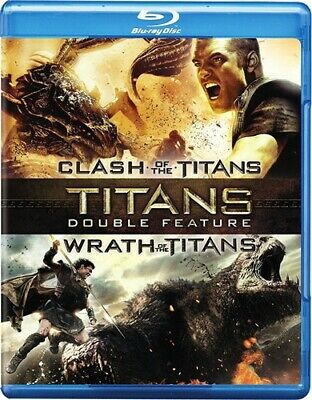 CLASH OF THE TITANS + WRATH OF THE TITANS New Sealed Blu-ray Double Feature
