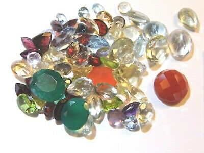 100.01Ct Parcel Natural Faceted Gems MIxed Sizes and Shapes as Shown