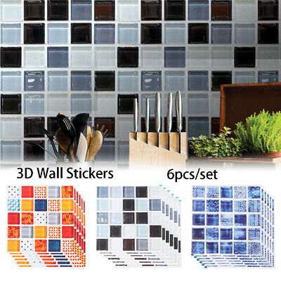 Mural tile sticker Kitchen Mosaic Diagonal Sticker Floor Tiles Wall Decals