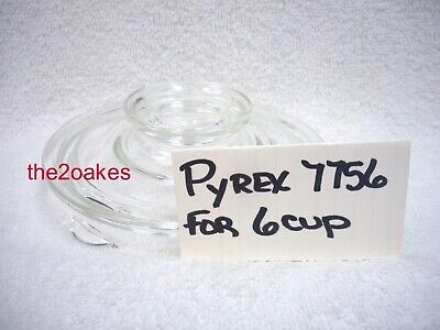Vintage Pyrex 7756 REPLACEMENT LID Glass Flameware 6 Cup Percolator Coffee Pot