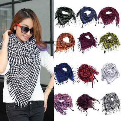 Women Military Winter Warm Tassels Tactical Desert Plaids & Checks Scarf Scarves