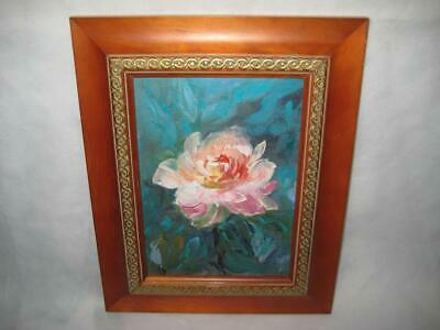 """Vintage Signed Framed Original Oil Painting On Canvas ~Shirley Wilson ~ 7"""" X 5"""""""