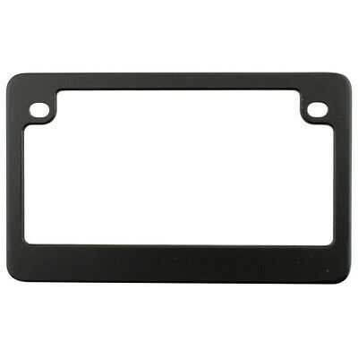 Matte Black Metal License Plate Tag Frame for Motorcycle-Bike-Chopper-Scooter