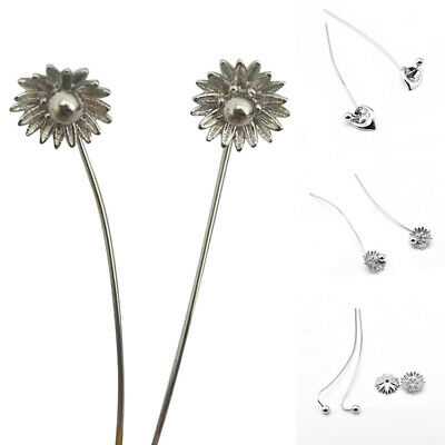 Womens Drop Earrings 925 Silver Daisy Heart Dangle Ear Stud Trendy Jewelry Gift