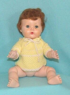 """Vintage Doll Sweater in Yellow - fits our 15"""" Tiny Tears"""