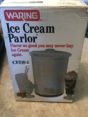 Vintage WARING Ice Cream Parlor CF510 Frozen Yogurt Maker Dessert Machine