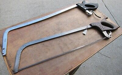 Two Antique Butchers Meat Saw : Hook Eye,Never Sold &  Tilden Saw