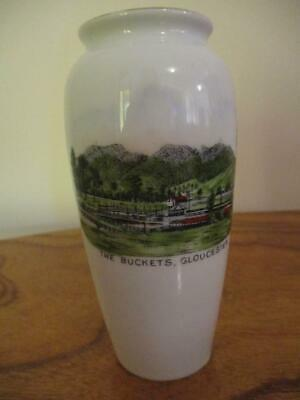 Vintage Early Souvenir VASE -THE BUCKETS ,GLOUCESTER.Victoria Czechoslovakia