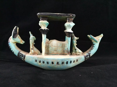 Ancient Egyptian Antiquities boat of God Anubis - (3100 –  2890 BC)