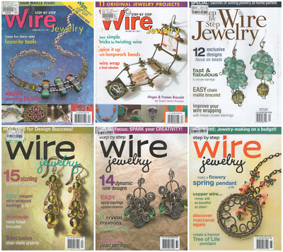 Assorted Wire Jewelry Magazines (Total 9 magazines) **Lot 3**