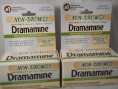 NON-DROWSY DRAMAMINE NATURALS with Ginger, Motion Sickness