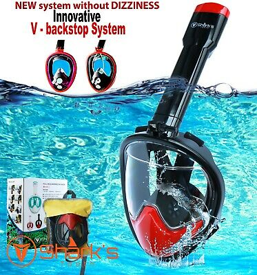 Snorkel Mask Full Face w/GoPro Mount | 180° Panoramic Swimming View | Diving