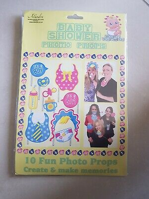 Baby Shower Photo Booth Props Girl Boy   Birth Party Decorations Accessories