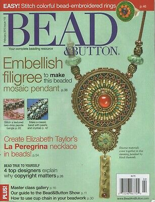 Bead and Button Magazines (Total 12 magazines) **Lot 7**