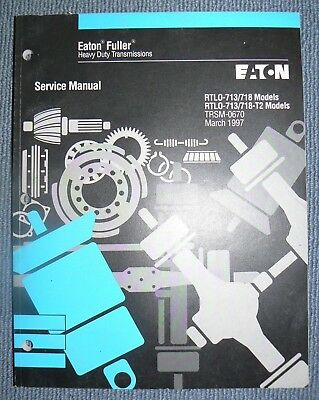 EATON FULLER SERVICE Manual RTO-1258LL, RT-12509 Series, RT