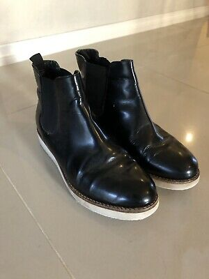 Country Road Black Patent Ankle Boots Sz 8