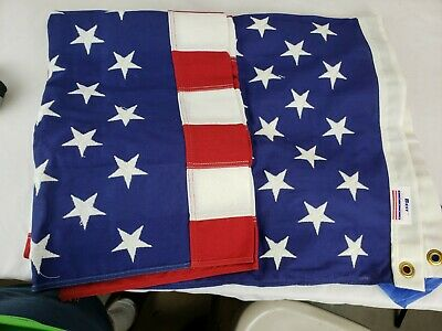 American Flag Best 100% Cotton Bunting 3' x 5' Made in USA Sewn