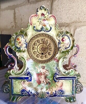 Antique Harley Jones Large Mantel Clock Ceramic