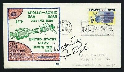 Joe Engle & Richard Truly signed cover NASA Shuttle Astronauts Space Exploration