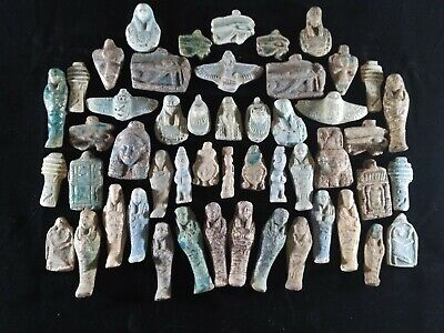 lot of 50 Ancient Egyptian Antiques rare Amulets (1816 BC)