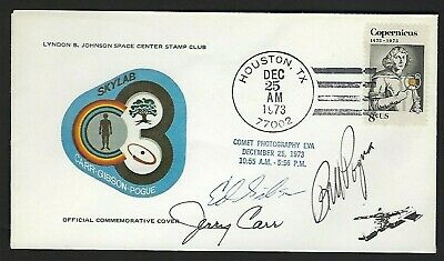Skylab 4 Crew Astronaut signed cover NASA Astronauts Pogue, Carr & Gibson