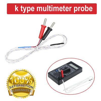 1M K-Type Multimeter Temperature Thermocouple Probe Tester Line