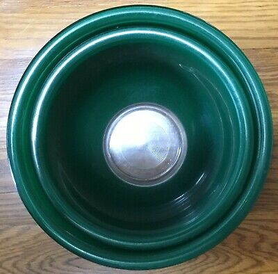 Pyrex Green Clear Bottom Glass Mixing Bowls Set of 2 5l and 1.5L Baking Nesting