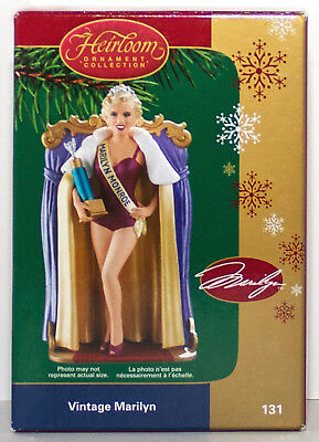 VINTAGE MARILYN MONROE NEW Carlton Cards Ornament Beauty Contest Pin-Up Girl
