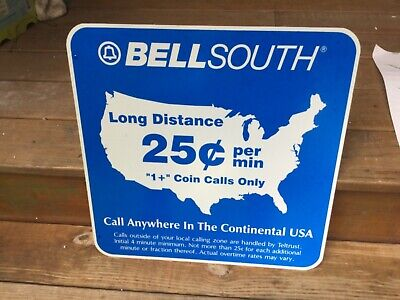 TELEPHONE OLD SCHOOL PHONE BOOT SIGN TELE PHONE BOOTH BELL SOUTH SIGNAGE