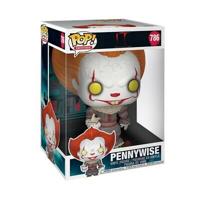 "Funko - POP Movies: IT: Chapter 1- 10"" Pennywise w/ Boat Brand New In Box"