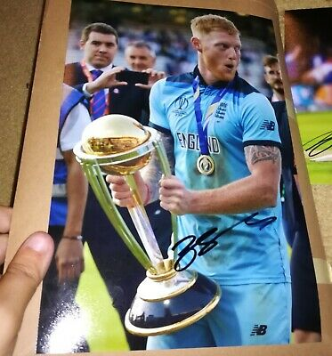 Signed Preprinted Photo 8x6 England Cricket World Cup Winner Ben Stokes