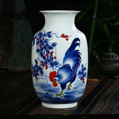 Handmade Chinese Archaize Antique Blue And White Porcelain Pattern Vase AE5486