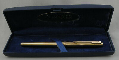 Parker 180 Imperial Gold Rollerball Pen In Box - 1970's - Unused - Made in USA