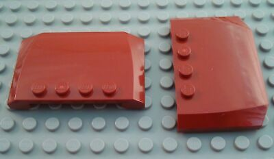 LEGO Lot of 2 Reddish Brown 4x4 Car Truck Vehicle Roof Pieces