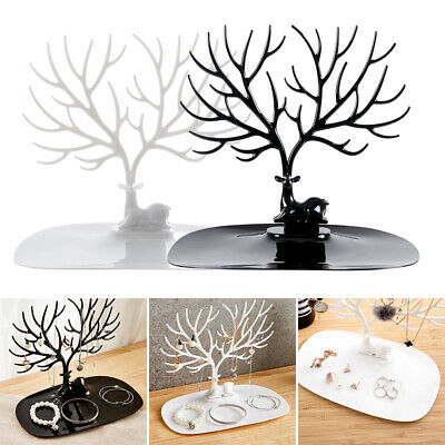Deer Tree Jewelry Display Stand Chic Show Rack Necklace Ring Earring Hanging AU
