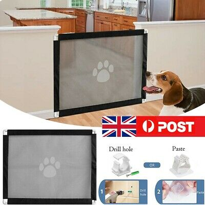 Detachable Pet Dog Gate Safety Guard Folding Baby Toddler Stair Isolation UK