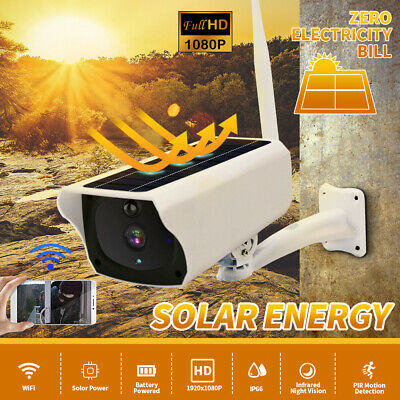 New 1080P Wireless Solar In/Outdoor WiFi IP Camera HD Security Surveillance CCTV
