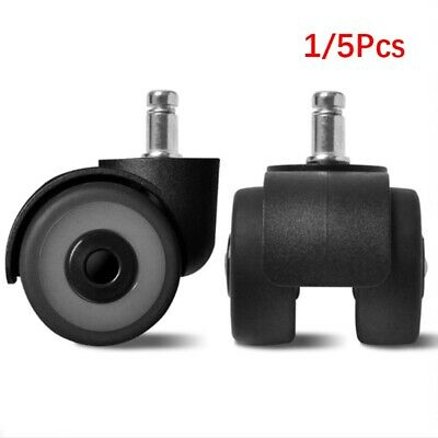"1/5X Office Chair Wheels Furniture 2""Universal Mute Wheel Swivel Caster TPR 11mm"