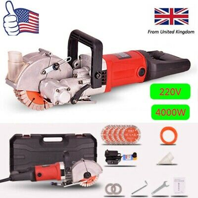 220V 4000W 360°Wall Chaser Grooving Machine Steel Concrete Cutting Slotting Tool