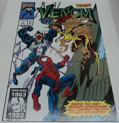 VENOM LETHAL PROTECTOR #4 (Marvel Comics 1993) 1st app SCREAM (VF-) SPIDER-MAN