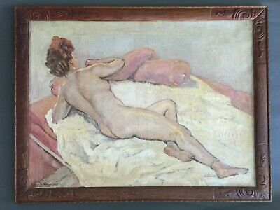 Willem De ...  , Nude Art Painting  Signed And Dated In 1945 , French Artist