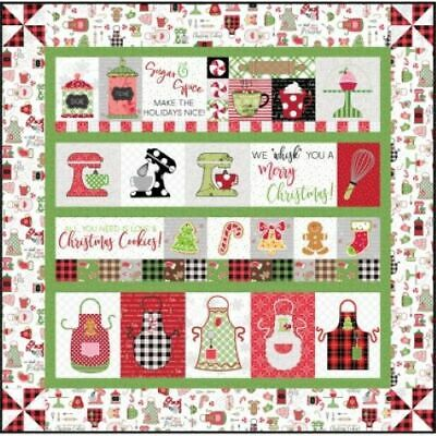 We Whisk You A Merry Christmas Quilt Kit (White Border) Embroidery