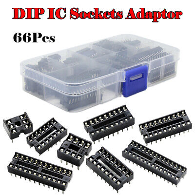 1 Set DIP Integrated Circuit IC Sockets Adapter Solder 6/8/14/16/18/20/24/28 Pin