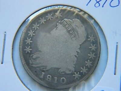 1810 Capped Bust Silver Half Dollar Early Type Coin Reverse Damage
