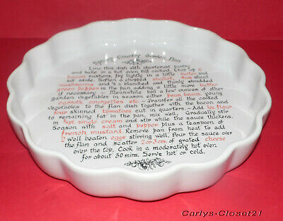 T.G. GREEN * Epicure Church * Large Pottery Baking / Flan / Tart / Oven Dish *