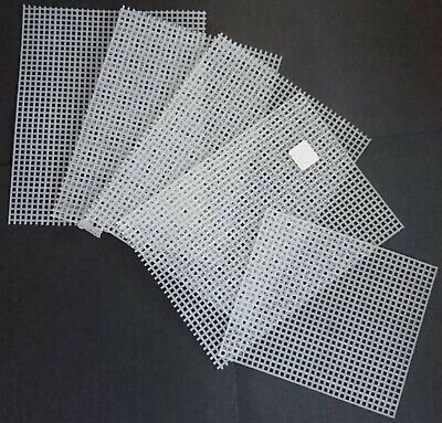PLASTIC GRID CANVAS PATTERN BOOKS x3 with SMALL AMOUNT OF GRID! HANDICRAFTS LOOK