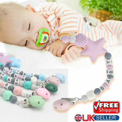 Baby Pacifier Strap Infant Dummy Soother Clip Nipple Chain Clip Teether Holder