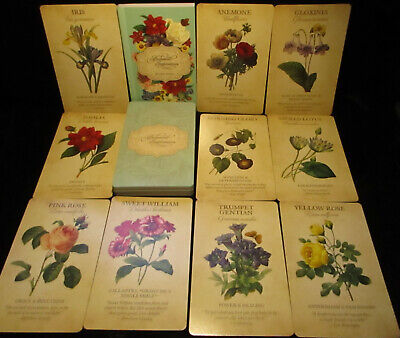 Sealed Brand New! Victorian Botanical Inspirations Cards & Book Oracle With Bag