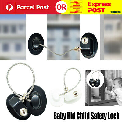 Baby Kid Child Safety Lock Proof Cabinet Window Fridge Cupboard Door Drawer L3