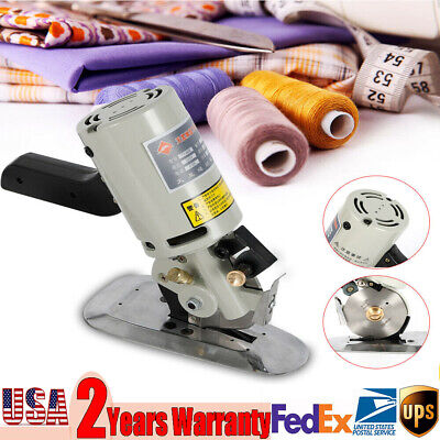 90mm Electric Cloth Cutter Fabric Leather Rotary Blade Cutting Scissors Machine